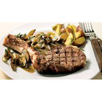 Biftecks de côte de choix, champignons des bois poêlés #IGA #Recettes #Boeuf