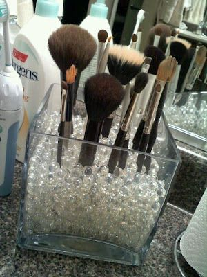makeup brushes I've got these beads, just need the right containers