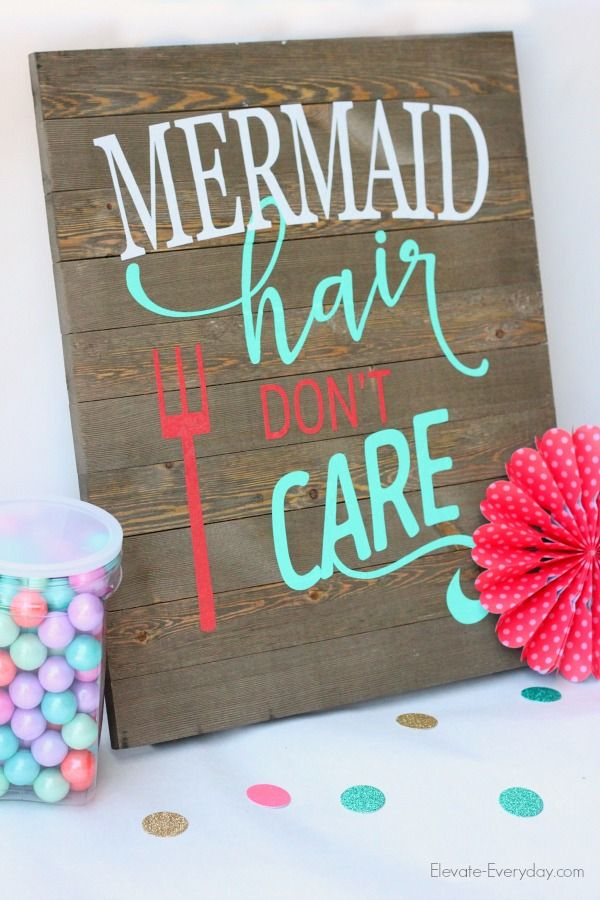 This mermaid sign tutorial uses vinyl from Expressions Vinyl and is a great beginner project for anyone looking to tackle a vinyl decor project.