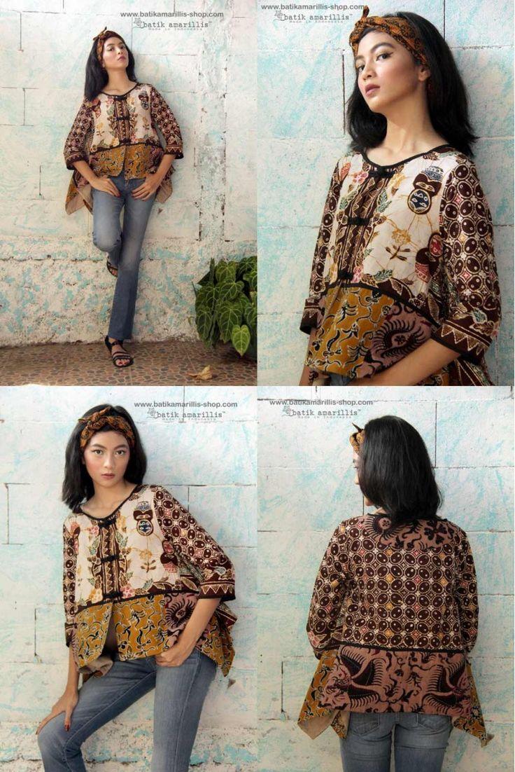 Batik Amarillis's new fave's signature patch work jacket of Hand drawn Batik pekalongan on Muslin in Matryoshka series :)