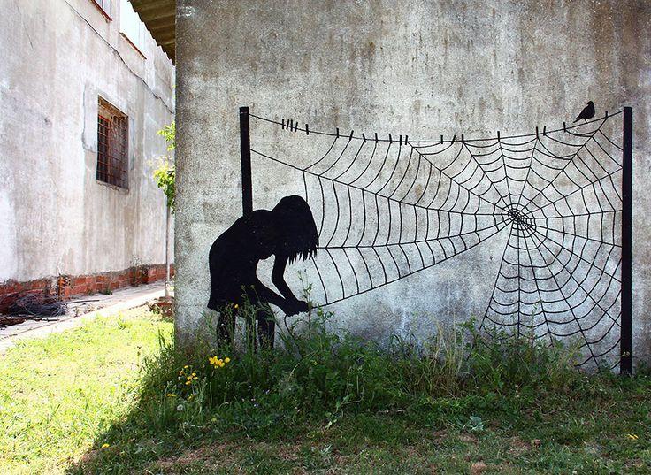 Spanish Street Artist Pejac Decorates European Cities With His Elegant Works http://restreet.altervista.org/la-street-art-minimalista-di-pejac/