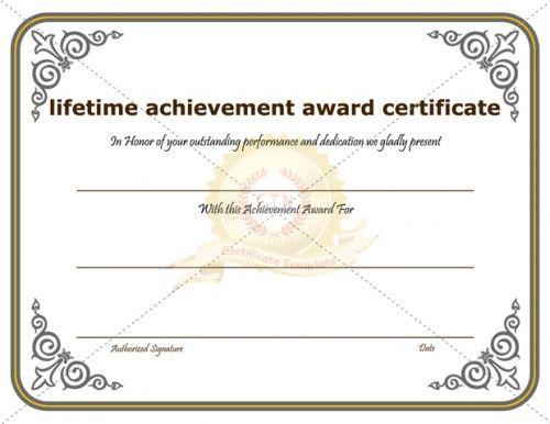 19 Best Achievement Certificate Images On Pinterest