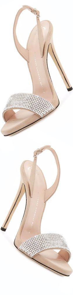 Giuseppe Zanotti Coline Crystal 110mm Sandal, Pallido | @ giuseppe zanotti                                                                                                                                                                                 More