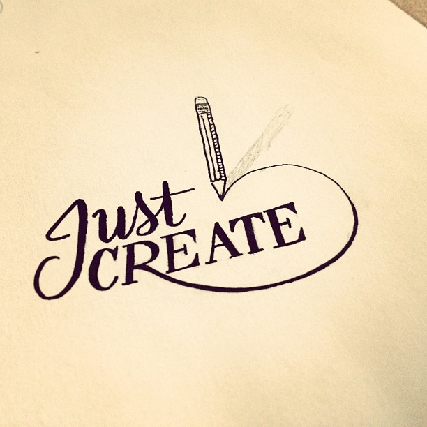 Just Create – Sometimes I feel so pressure that my next thing has to be super epic and outdo anything else I've made before. Often it's to the point where this pressure will keep me from making anything at all. I have to remind myself to just create and not worry about it. #lettering #sketch #typography - @seanwes | Webstagram