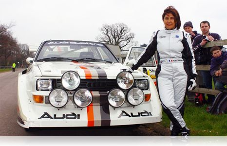 1981-Michèle Mouton became the first-ever woman to win a World Championship rally, in San Remo.