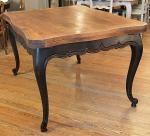 Table Louis XV patinée noir bois naturel | | Au Passe Simple | Antiquités Nogent le Roi