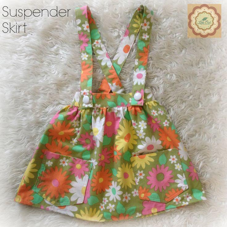 Girls+Retro+Button+Waisted+Suspender+Skirt+by+LittleOakApparel,+$34.00