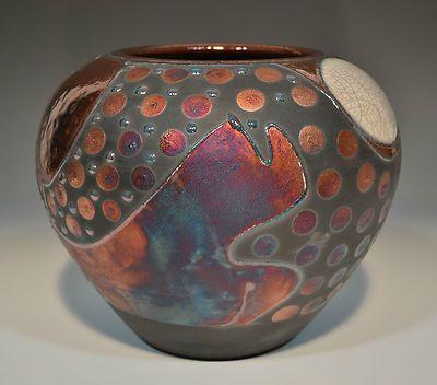 Fine Art Raku Pottery Vase by John Turner | eBay