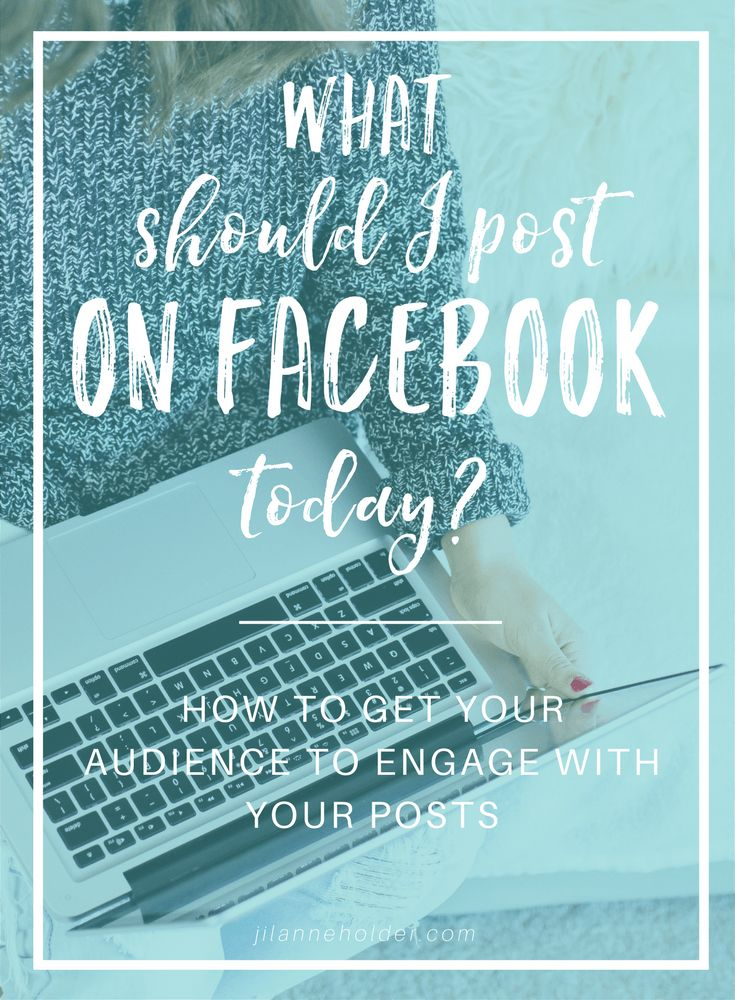 What should I post on FB today?