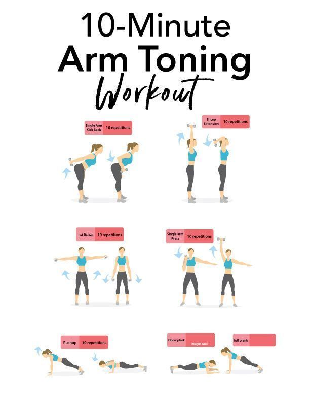 10-Minute Arm Toning Workout | Toning workouts, Arm toning exercises, Toned  arms