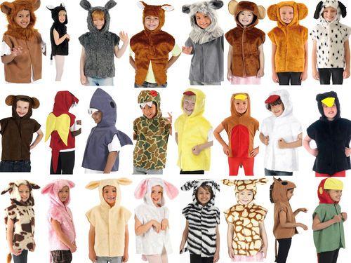 Children's Kids Boys Girls Zoo Farm Animal Tabard Fancy Dress Up Costume Outfit   eBay