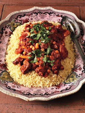 Lamb Tagine with Chickpeas and Apricots Recipe  | Epicurious.com