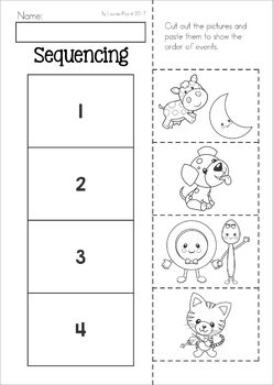 Hey Diddle, Diddle Nursery Rhyme Worksheets and Activities. Sequencing cut and paste activity.
