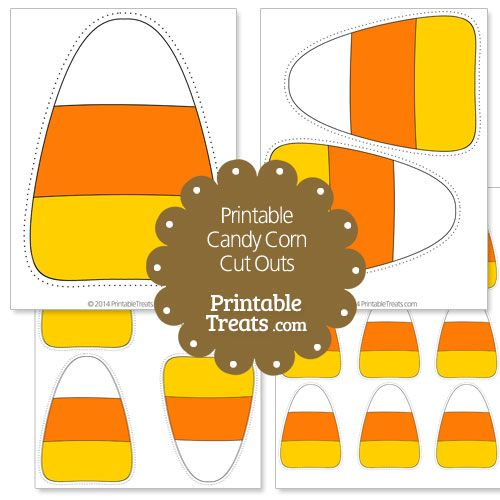 Printable Candy Corn Cut Outs from