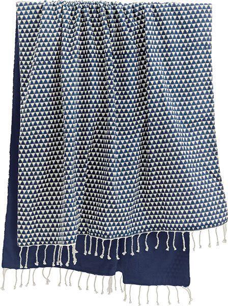 strandhåndklæde Mønster blå fra Liv Interior