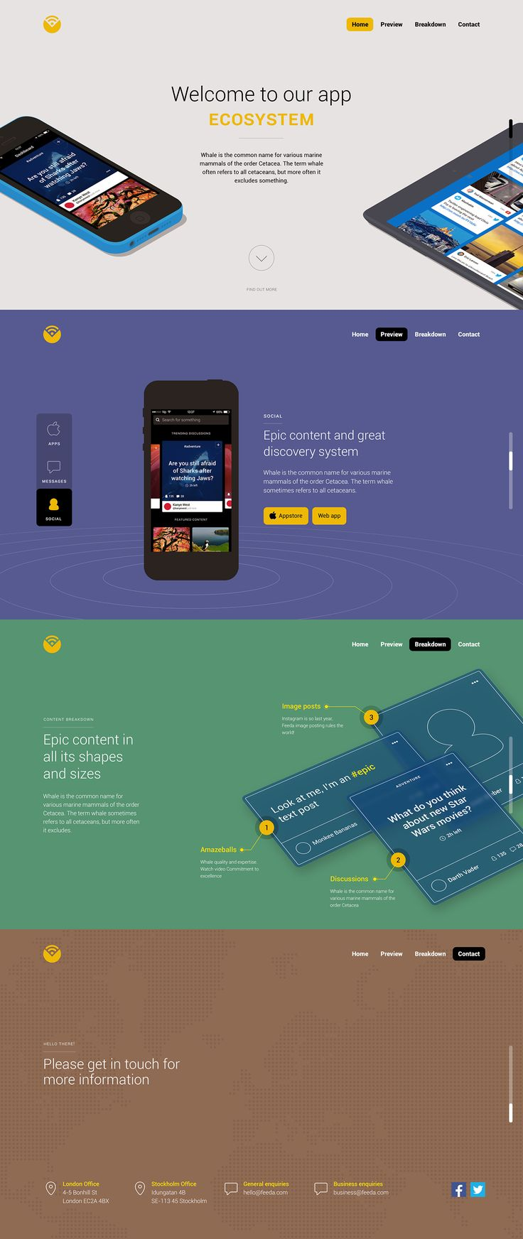 App Landing Page by Unity