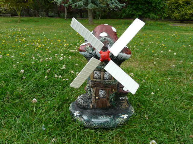 Image Detail For  Medium Mushroom Windmill Garden Ornament