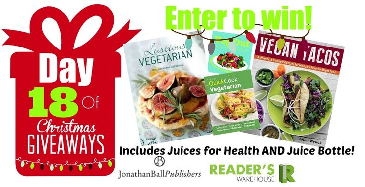 Day 18 of Christmas Giveaways sponsored by @JonathanBallPub is the ultimate guide for delicious meat-free meals!  Enter here: http://bit.ly/Day18Hamper
