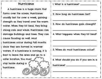 weather reading comprehension passages questions tornado hurricane weather grade 2. Black Bedroom Furniture Sets. Home Design Ideas