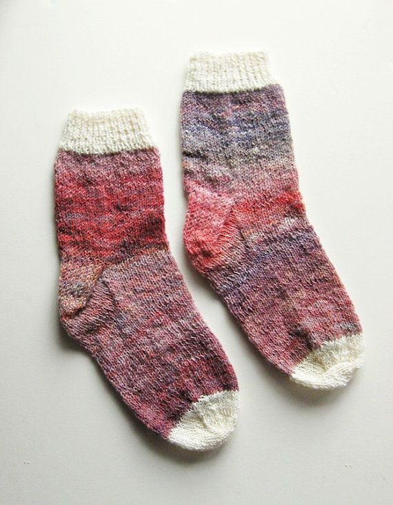 Knitting Women S Socks : Ambient rose hand knit socks women s size