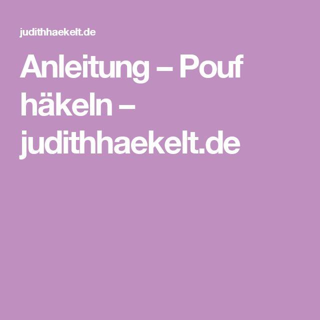 Anleitung – Pouf häkeln – judithhaekelt.de