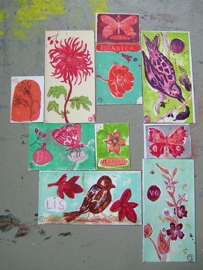Nathalie Lete.  Paintings.