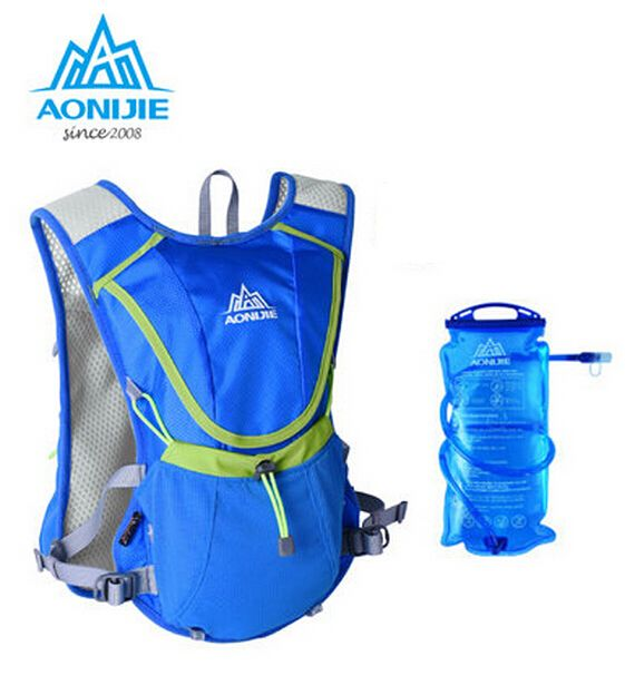 US $22.56 AONIJIE Men Wome Lightweight mochila Running Backpack Outdoor Sports Marathon Cycling Hiking Bag Optional 1.5L Hydration Water