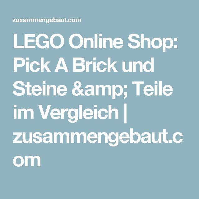 LEGO Online Shop: Pick A Brick und Steine & Teile im Vergleich | zusammengebaut.com