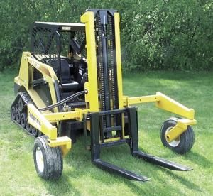 Farm Show Attachment Turns Skid Steer Into A Forklift