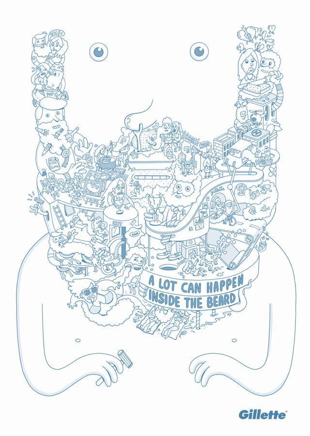 brilliant illustrations...also i like beards.