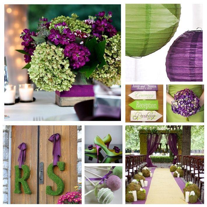 Casamento verde e roxo