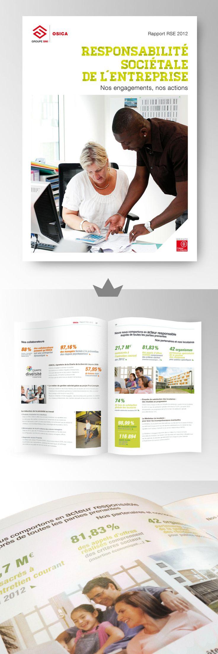 OSICA - Rapport RSE 2012 (Responsabilité Sociétale de l'Entreprise)