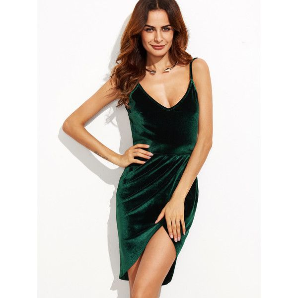 Backless Ruched Velvet Tulip Dress (20 AUD) ❤ liked on Polyvore featuring dresses, sexy night out dresses, sexy going out dresses, sexy party dresses, sexy backless dresses and holiday party dresses