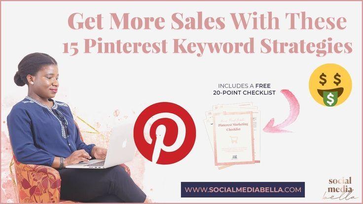 📌 15 Möglichkeiten, mit fortschrittlichen Keyword-Strategien mehr Umsatz mit Pinterest zu erzielen