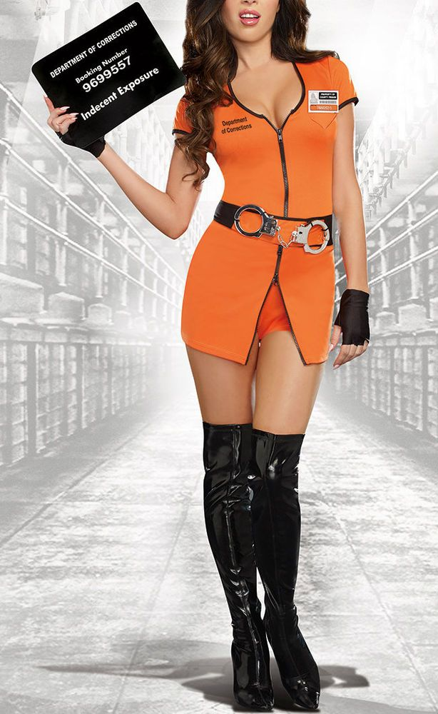 SEXY LOCKED UP INMATE COSTUME DG-9505 Prisoner Orange is the New Black Halloween | Clothing, Shoes & Accessories, Costumes, Reenactment, Theater, Costumes | eBay!