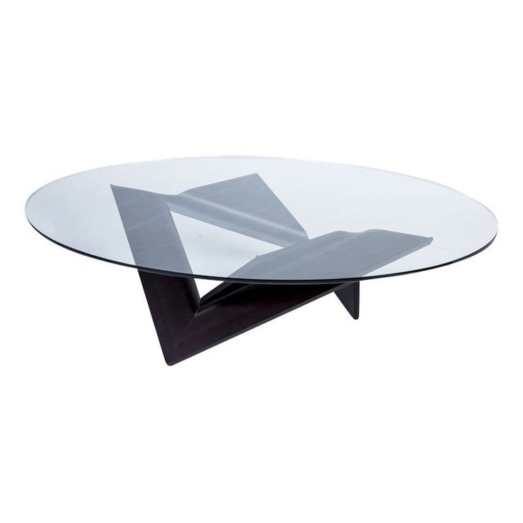 Roche Bobois Oval Glass and Bentwood Coffee Table 3000 Est