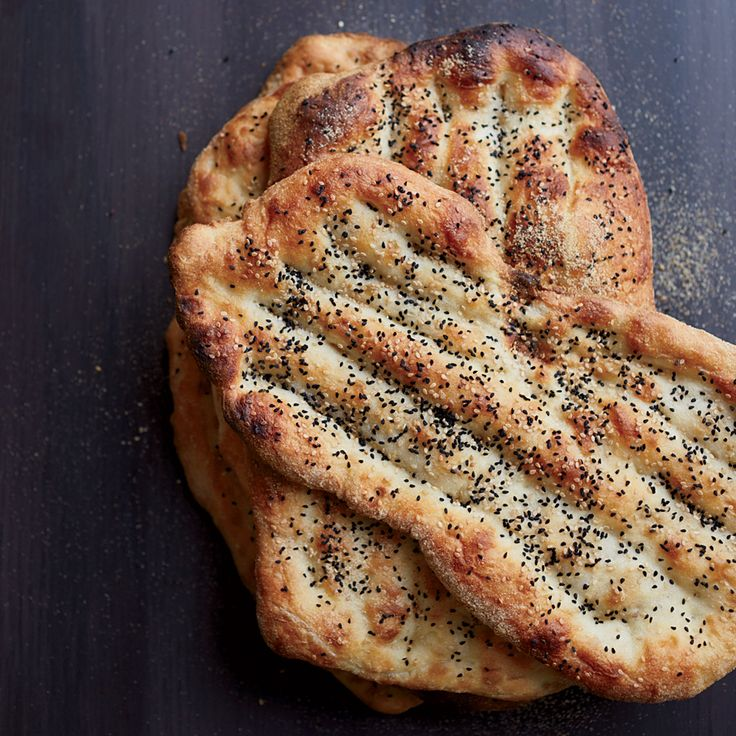This quick-to-assemble flatbread is wonderfully crisp and chewy, with terrific flavor from nutty nigella and sesame seeds.