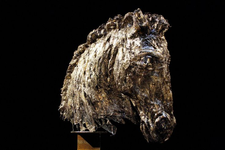 black horse testa di cavallo  fusion of polycarbonate - 2008 cm -70x95x40 Ph. Maria Vittoria Gozio