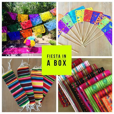 Everything you need for your next Fiesta is in our new Party Pack decoration set! Festive and vibrant party supplies at a discounted price. Your guests will love the colorful selection of table top de