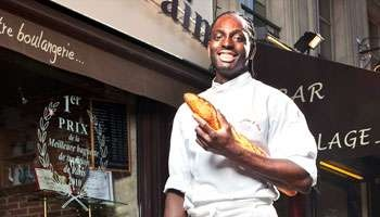 2010 Grand Prix for best baguette in Paris was given to Djibril Badain, a Senegalese native who was awarded the prize for crafting the best traditional artisan French baguette, among a sea of bakers juried. He also had the distinction of being the exclusive bread baker for the French president and Elyseé Palace. He's the owner/baker of Le Grenier à Pain Abbesses in Montmartre. Great story!