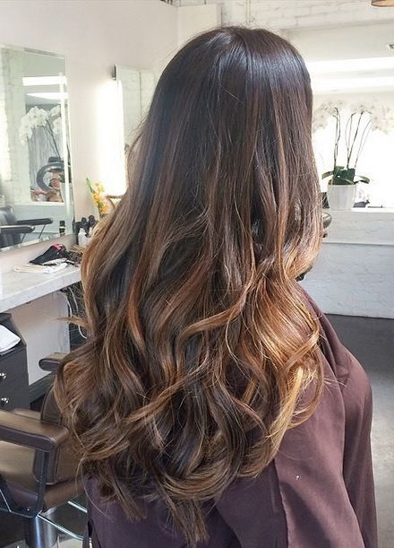 long hair with brunette highlights