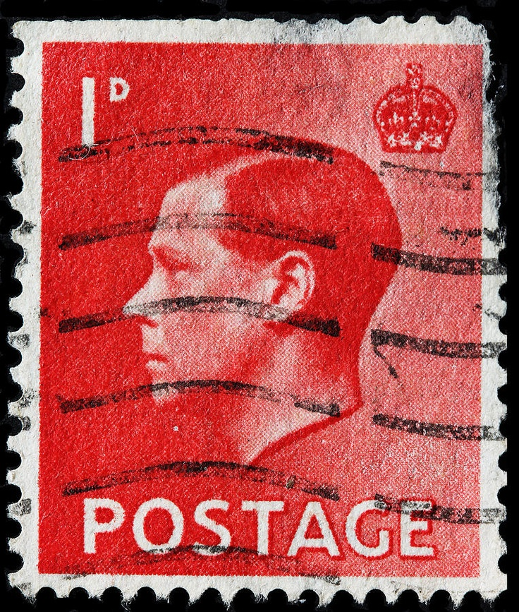 A used example of an Edward VIII stamp -- probably rare as hen's teeth.