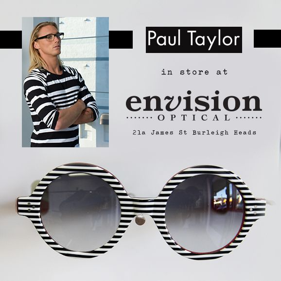 We love stripes! Paul Taylor eyewear at Envision Optical, 21a James St Burleigh Heads.  So much optical and sunglasses goodness in store with Paul Taylor.  Come and visit us and try some on, they are amazing!