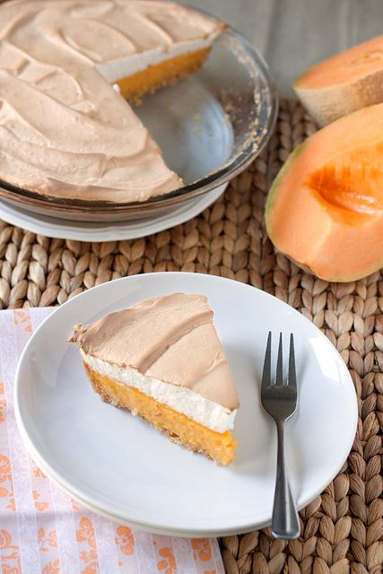 Cantaloupe Meringue Pie. Hmmm, I dunno, could be good