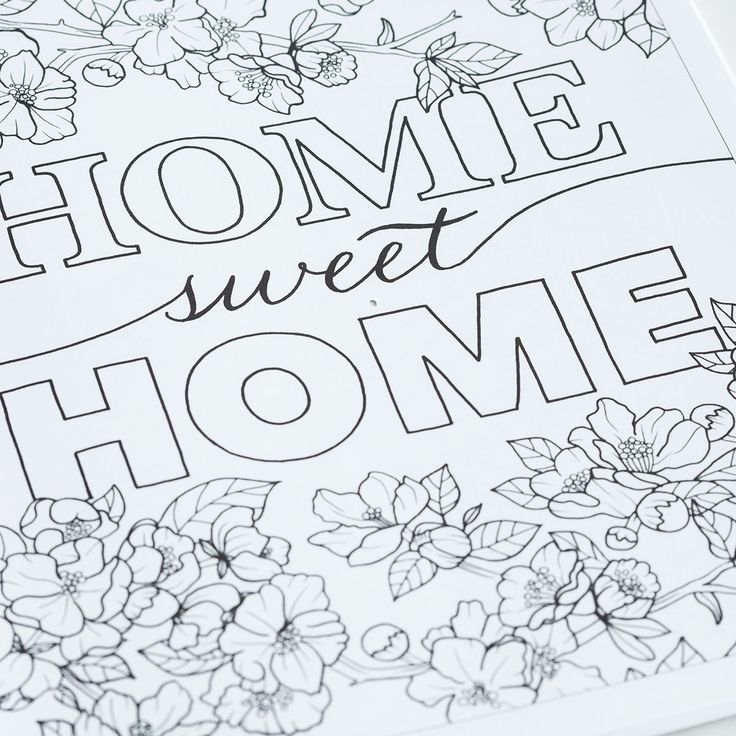24 Best Home Decor Coloring Book Images On Pinterest