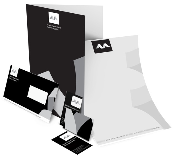 N.Lazaridis accountant firm,based in Thessaloniki asked us to create their logo and identity.We designed a logo based on the initial letters N.L and the shape of the calculator's ribbon.We used black,white and grey in order to create a trustworthy,proffesional and also modern identity for the company.