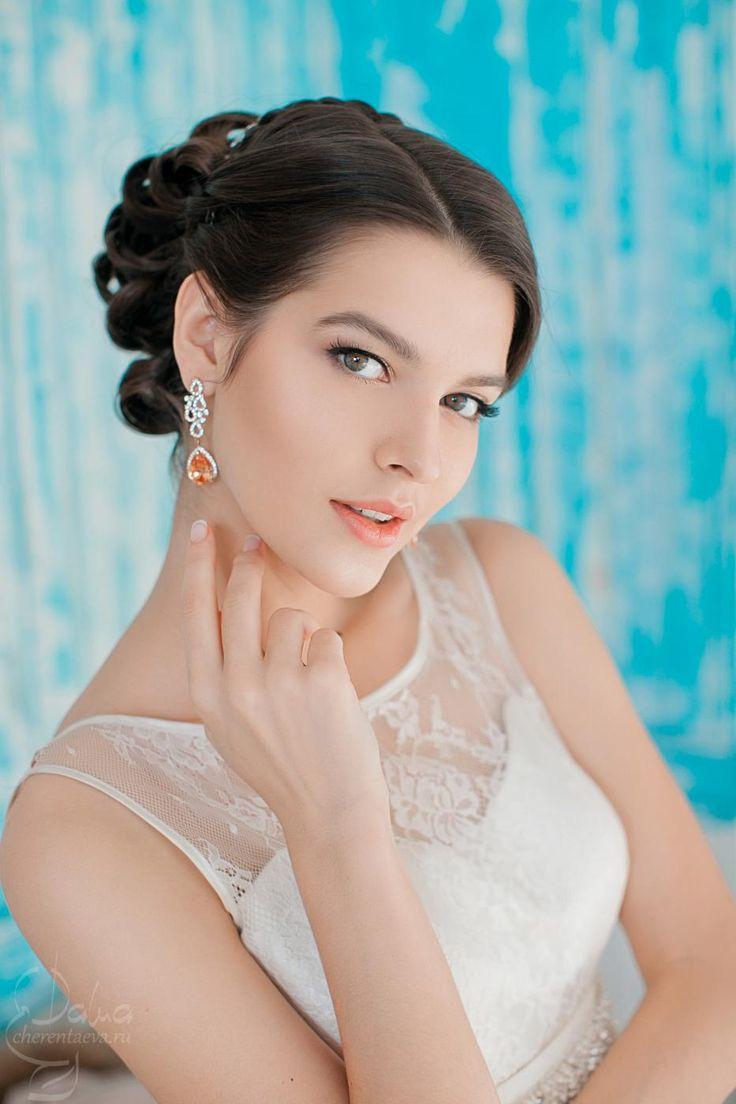 wedding bride make-up and hair свадебный макияж и прическа невесты
