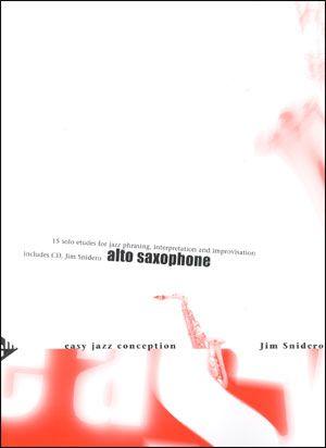 Jamey Aebersold Jazz: Easy Jazz Conception for Alto or Baritone Sax