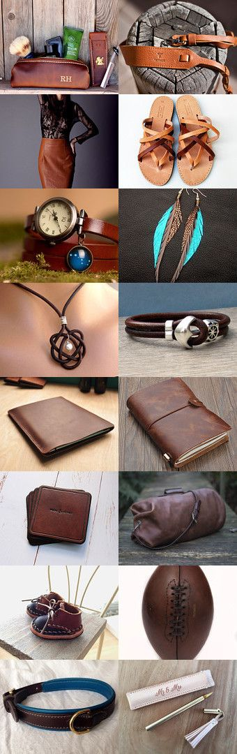 Leather is useful by Dea Szabó on Etsy--Pinned+with+TreasuryPin.com