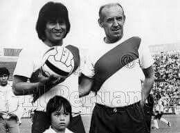 Tito Drago con El Cholo Sotil.